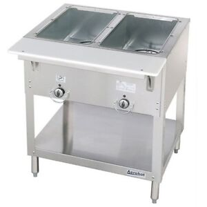 New 2 Well Lp Propane Steam Table Dry Bath Duke 302 lp Commercial 5937 Aerohot