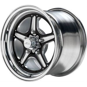 Billet Specialties Brs035106545n Street Lite Black Anodized Wheel 15x10 4 5