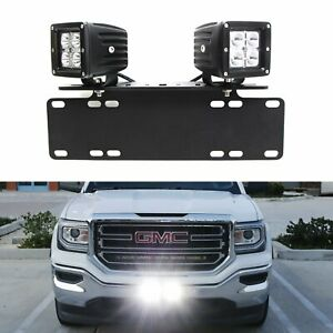 40w Cree Led Pods W License Plate Bracket Wirings For Truck Jeep Atv 4wd 4x4