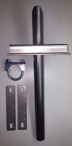 Universal Generator Exhaust System Wall Attachment For 1 Id Steel Flex Tubing