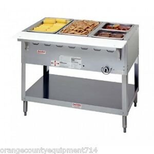 New 3 Well Gas Steam Table Duke Aerohot Wb303 Water Bath Nsf 4402 Food Nsf Comm