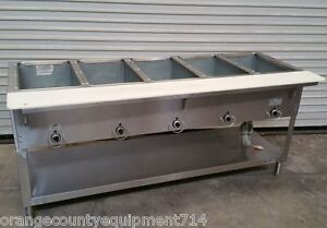 New 5 Well Gas Steam Table Duke Aerohot Db 305 Dry Bath Nsf 4407 Commercial Hot