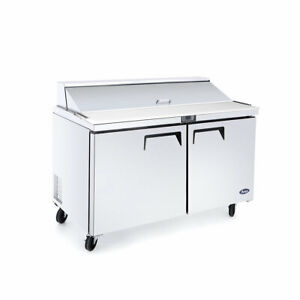 New 2 Door 48 Refrigerated Prep Table Stainless Steel Nsf Atosa Msf8302gr 2225