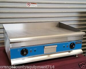 New 30 Electric Griddle Flat Grill Uniworld Ugr ch30 2947 Plancha Commercial