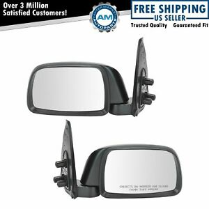 Folding Manual Side View Mirrors Pair Set For 95 99 Tacoma Pickup Truck