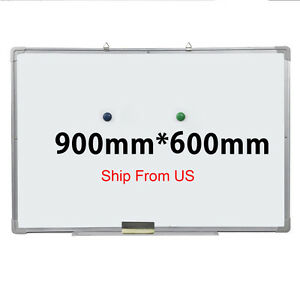 36 x24 Single Side Magnetic Writing Whiteboard Dry Erase Board Office W Eraser