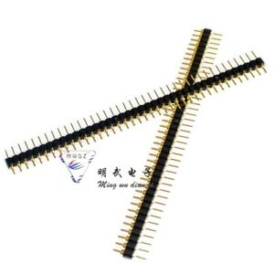 10 Pcs Gold Plated 2 54mm Male 40 Pin Single Row Straight Round Pin Header Strip