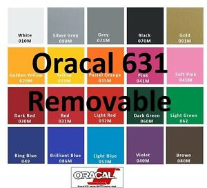 Oracal 631 15 Rolls 12 x 5 Feet Adhesive Vinyl craft Hobby sign Maker cutter