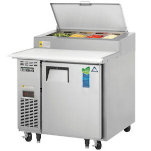 New 36 Cold Pizza Prep Table Cooler Everest Eppr1 4835 Refrigerated Top Nsf