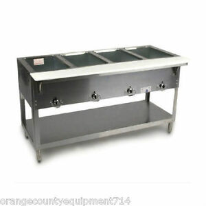 New 4 Well Electric Steam Table Duke Aerohot E304 Dry Bath Nsf 1199 Food Hot