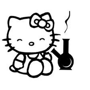 Decal Vinyl Truck Car Sticker Hello Kitty Stoned Weed