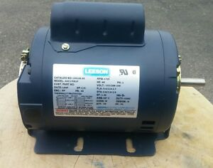 Leeson Single Phase 25hp Cont Duty Electric Motor