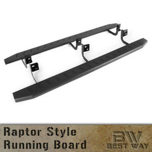 6 Black Mega Running Boards For 2015 2021 Chevy Colorado Crew Cab Side Steps