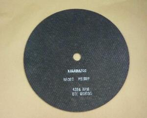 Lot Of 8 Kalamazoo 14 Abrasive Cut off Saw Blades Model 535905 Ma302 Pb15fp
