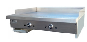 New 24 Thermostatic Gas Griddle Flat Top Grill Ideal Idgr 24t 5825 Commercial