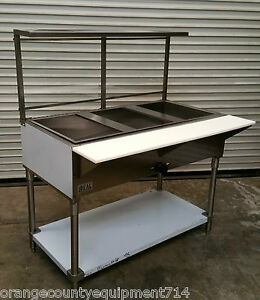 4 Well Gas Steam Table Sneeze Guard Water Bath new Ideal 3399 Commercial