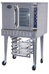 New Convection Oven Single Stack Gas Bakery Depth Royal Rcos 1 3409 Commercial