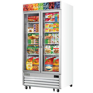New 2 Glass Door Reach In Freezer Everest Emgf 4230 Food Display Nsf Commercial