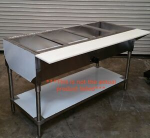 New 6 Well Gas Steam Table Water Bath 3396 Restaurant Nsf Stainless Steel Usa