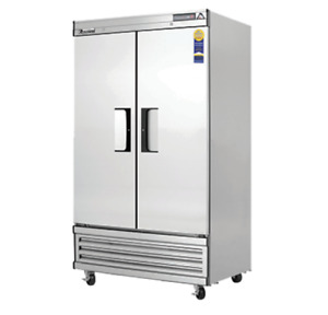 New 2 Narrow Door Freezer Reach In Everest Ebnf2 4220 Commercial Stainless Nsf