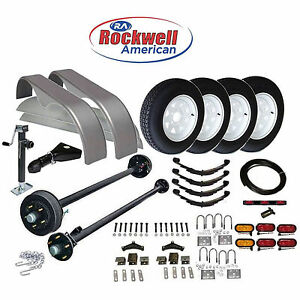 Car Hauler Trailer Parts Kit Tandem Axle 7 000 Lb Capacity Model 1218 80