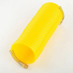 25ft 1 4 Recoil Air Hose Re Coil Spring Ends Pneumatic Compressor Tools