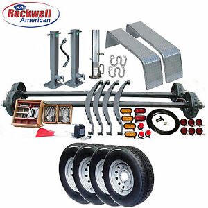 Gooseneck Car Hauler Trailer Parts Kit Tandem 7 000 Lb Axles Model 26xt