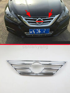 Front Central Grilles Molding Cover Trim For 2016 2018 Nissan Altima Grille Abs