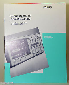 semiautomated Product Testing Application Note Hp 54600 54601a Hewlett Packard