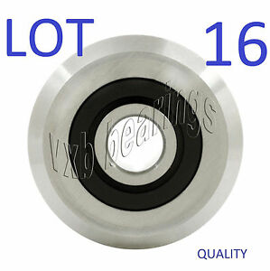 Lot 16 Vgroove Id 3 8 inch V Groove Belt Pulley Guide Way Sealed Ball Bearing