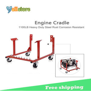 Auto Engine Cradle Stand For Chevy Chevrolet Dolly Mover Repair Rebuild W wheels