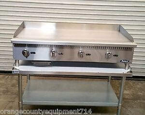New 48 Gas Griddle Equipment Stand Atosa Atmg 48 4176 Plancha Flat Top Grill