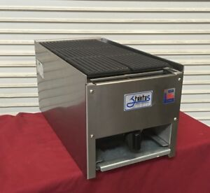 New 12 Lava Rock Char Broiler Grill Gas Stratus Scb 12 4095 Commercial Cook Nsf