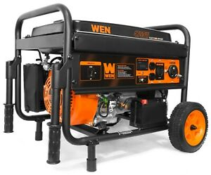 Wen 56475 Generator With Electric Start And Wheel Kit Carb Compliant 4750 watt