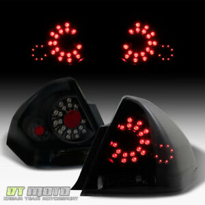 Black Smoked 2006 2013 Chevy Impala Led Tail Lights Brake Lamps Left Right 06 13