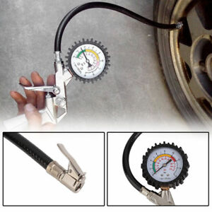2 100 Psi Tyre Tire Air Pressure Gauge Meter Tester Motorcycle Car Truck Bike