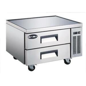 New 36 2 Drawer Nsf Refrigerated Chef Base Saba Scb 4460 Nsf Equipment Stand