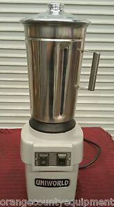 New 1 Gallon Food Blender Uniworld Uti 4al 2255 Commercial Chopper Restaurant