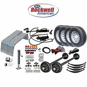 Gravity Tilt Car Hauler Trailer Parts Kit Tandem 7 000 Lb Axles Model 24gt