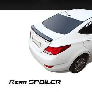 New Rear Trunk Wing Lip Spoiler Painted For Hyundai Accent 4door 2012 2016