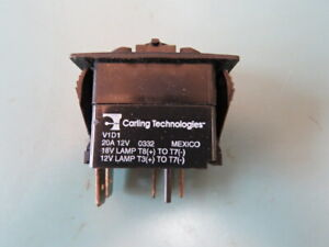 Carling V1d1776b 00000 000 Qty Of 5 Per Lot Spst Off none on 20a 12v Rocker Swi