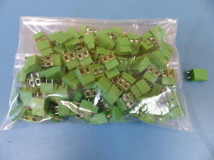 Altech Corp Mve 152 Qty Of 100 Per Lot Fixed Pcb Terminal Block Verticle Box Cl