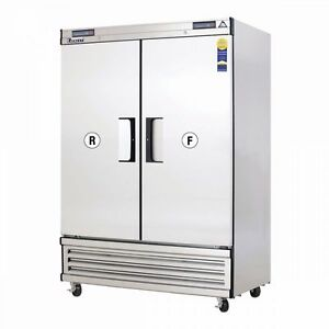 New 2 Door Dual Zone Commercial Reach In Cooler Freezer Everest Ebrf2 3115 Nsf