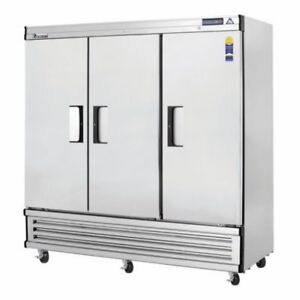 New 3 Door Reach In Freezer Everest Ebf3 3107 Commercial Restaurant Steel Nsf