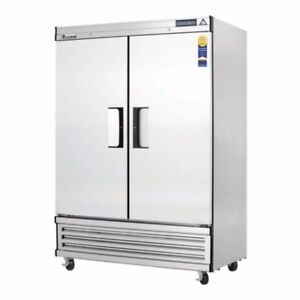 New 2 Door Freezer Reach In Everest Ebf2 3106 Commercial Stainless Steel Nsf