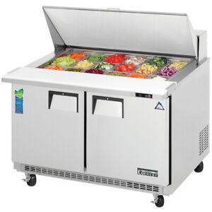 New 2 Door Mega Top Cold Prep Table Everest Epbr2 3123 Restaurant Food Nsf Cold