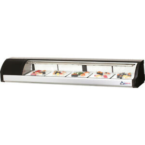 New 71 Sushi Case Counter Top Display Everest Esc71 3142 Refrigerated Nsf Fish