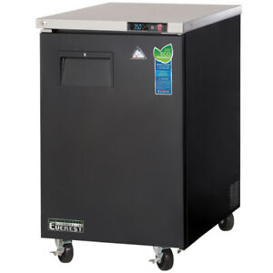 New 1 Door Back Bar Beer Cooler Everest Ebb23 3125 Commercial Cold Work Top Nsf