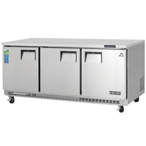 New 3 Door Under Counter Freezer Everest Etbf3 3113 Commercial Stainless Steel