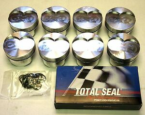Oldsmobile 350 20 Over Gsx Forged Pistons 4 080 And Ring Set